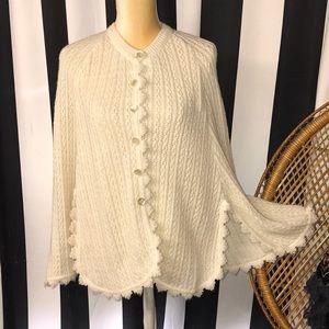 Vintage sweater poncho